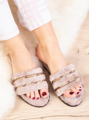 Sandal - Mink - Home Shoes