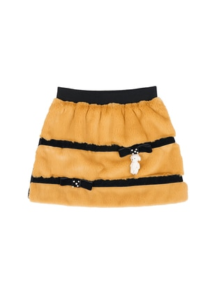 Viscose - Mustard - Girls` Skirt