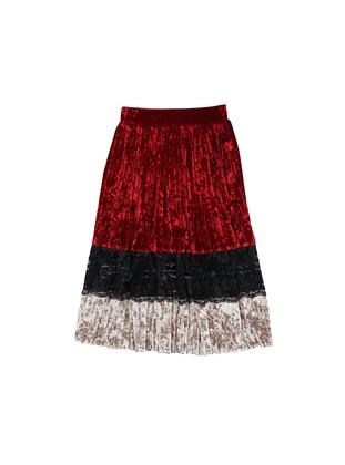 Unlined - Red - Girls` Skirt