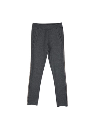Viscose - Anthracite - Girls` Pants