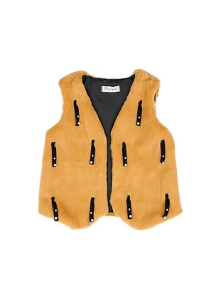 V neck Collar - Mustard - Girls` Vest