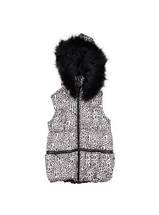 Leopard - Brown - Black - Girls` Vest