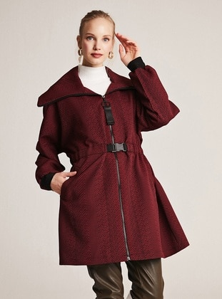 Maroon - Unlined -  - Puffer Jackets