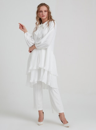 White - Crew neck - Tunic