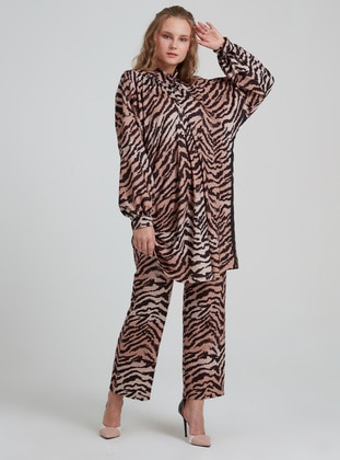 Multi - Zebra - Viscose - Suit