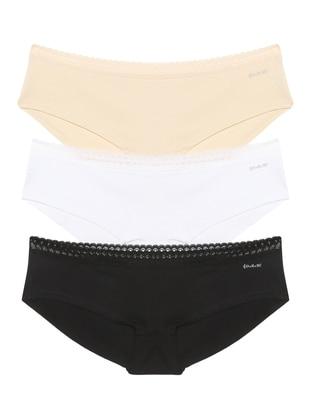 White - Black - Nude -  - Panties