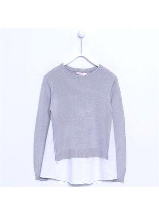 Gray - Girls` Pullover - Silversun