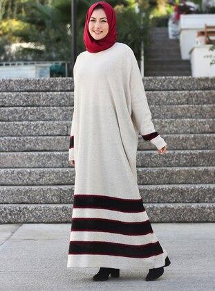 Stone - Crew neck - Unlined - Acrylic -  -  - Dress