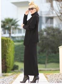 Black - Unlined - Acrylic -  -  - Suit