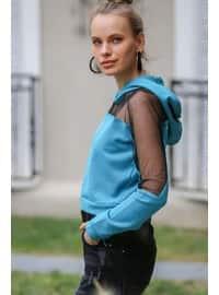 Turquoise - Sweat-shirt