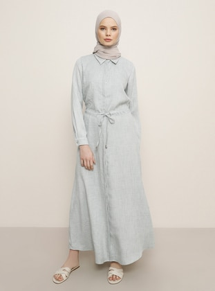 Sea-green - Point Collar - Dress