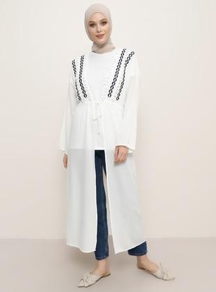 White - Ecru - Unlined - Viscose - Topcoat