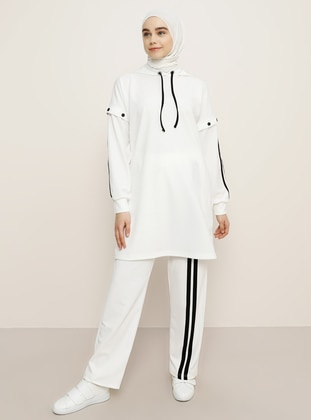 White - Black - Tracksuit Set