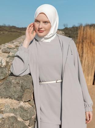 Gray - Plus Size Coat