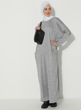 Crew neck - Gray - Dress