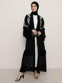 Unlined - White - Black - Round Collar - Evening Suit