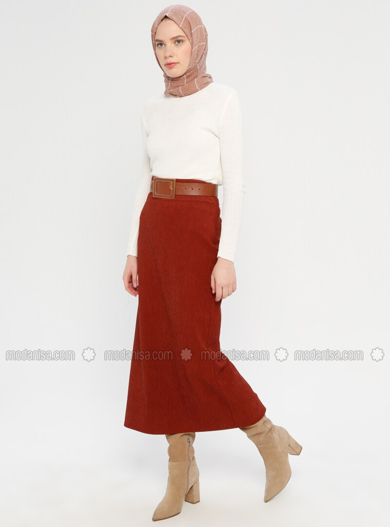 Terra Cotta - Half Lined - Viscose - Skirt