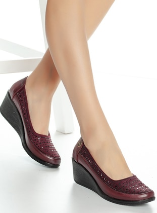 Maroon - High Heel - Boots