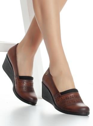 Tan - High Heel - Boots - Mask Butik