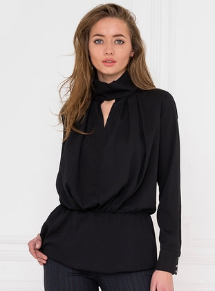Black - Polo neck - Blouses - For You Moda