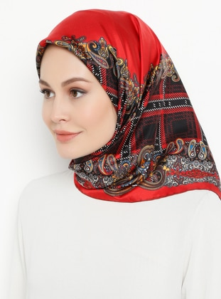 Multi - Printed - Plain - %100 Silk - Twill - Scarf