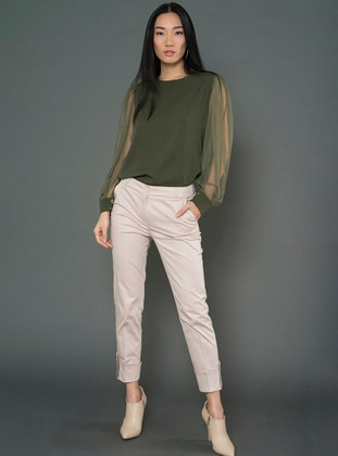 Green - Crew neck - Blouses - For You Moda