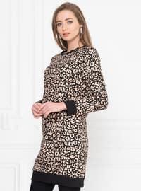 Crew neck - Leopard - Leopard - Black - Sweat-shirt