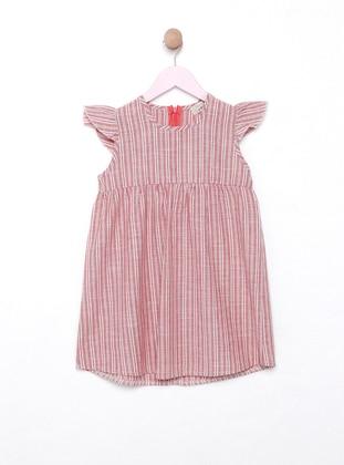 Terra Cotta - Stripe - Crew neck - Unlined - Dress