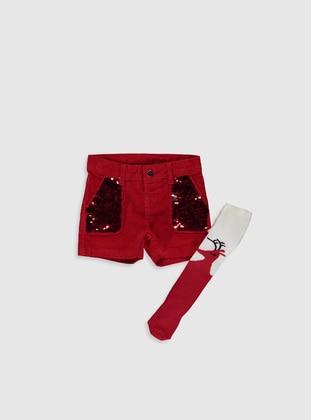Red - Girls` Shorts - LC WAIKIKI