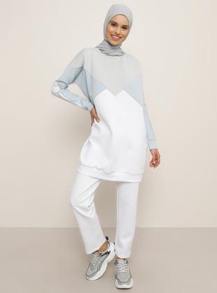 White - Gray - Blue - Unlined - Suit