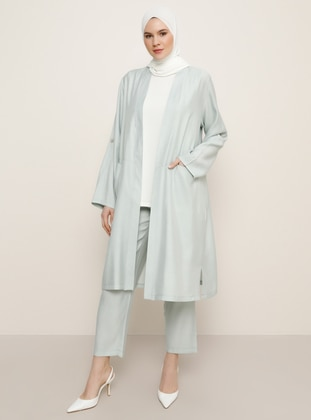 Green - Shawl Collar - Unlined - Viscose - Plus Size Suit - Alia