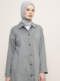 Navy Blue - Point Collar - Topcoat