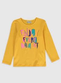 Orange - Girls` T-Shirt