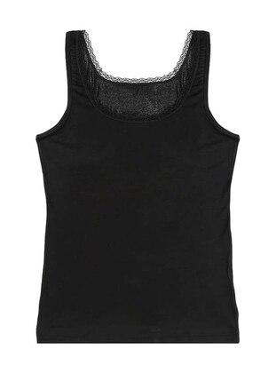 Black - Viscose - Undershirt