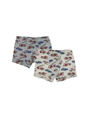 - Unlined - Gray - Kids Underwear - Doni