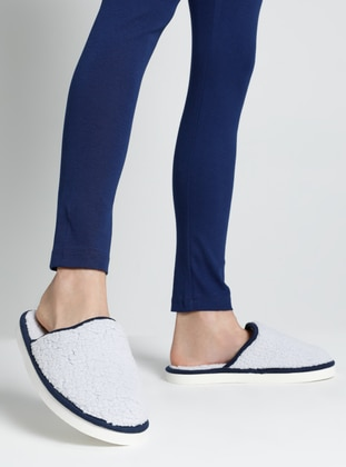 Sandal - Gray - Navy Blue - Home Shoes