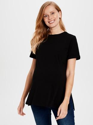 Black - Maternity Blouses Shirts