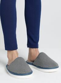 Sandal - Gray - Blue - Home Shoes