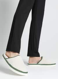 Sandal - Cream - Green - Home Shoes