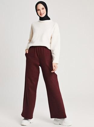 Maroon -  - Pants