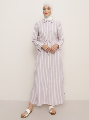Lilac - Stripe - Point Collar - Unlined -  - Tunic
