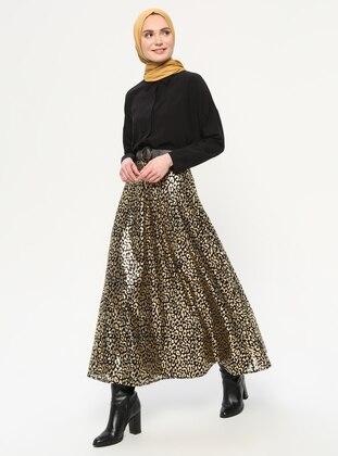 Gold - Multi - Fully Lined - Skirt