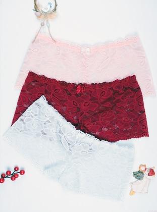 White - Powder -  - Panties