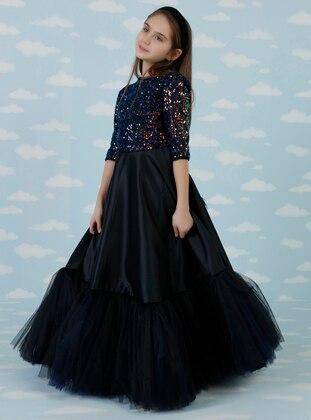 Navy Blue - Girls` Dress - Daisy Girls