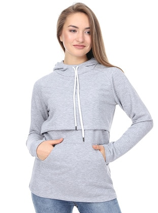 Gray -  - Maternity Tunic - Luvmabelly