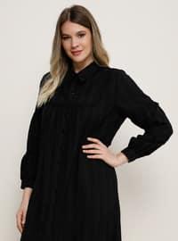 Noir - Col français - Robe grande taille