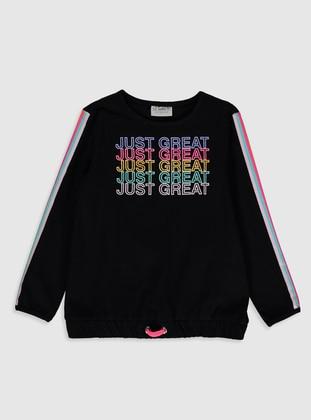 Black - Girls` T-Shirt - LC WAIKIKI