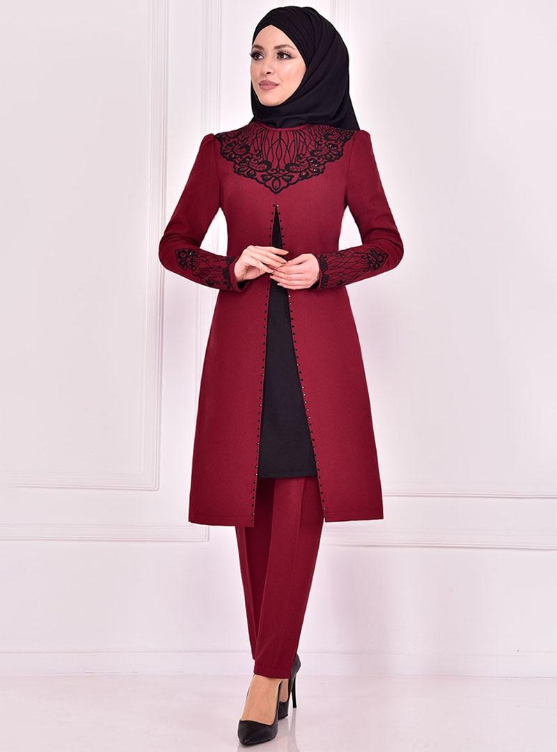 Evening Suit AYŞE MELEK TASARIM Maroon