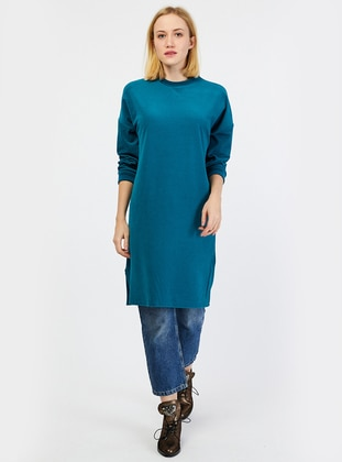 Petrol - Polo neck - Tunic