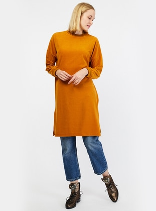 Mustard - Polo neck - Tunic